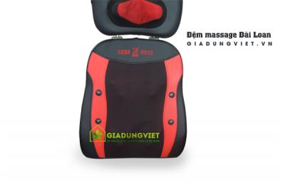 Đệm massage toàn thân hồng ngoại Đài Loan 14 bi (màu đỏ)