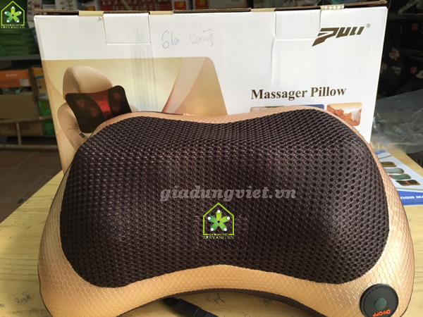 Gối massage hồng ngoại sapporo gold 6 bi