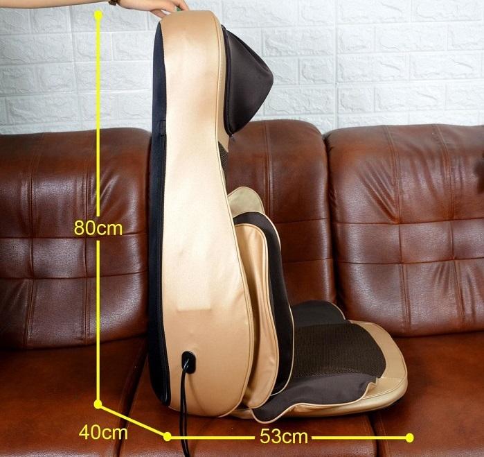Kích thước đệm massage toàn thân 6D1 Nhật bản