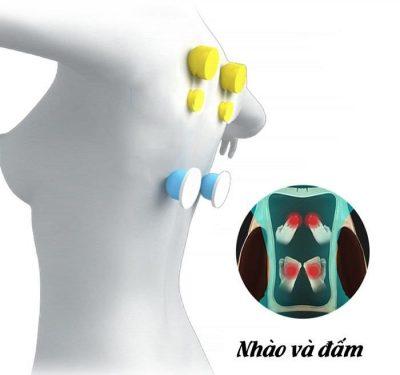 Con lăn lưng của đệm massage toàn thân 6d1 Nhật Bản