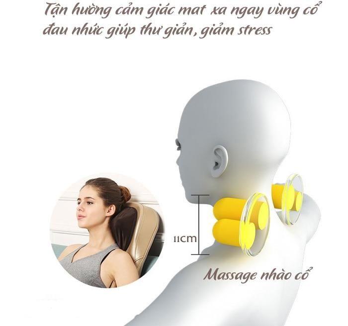 Con lăn gáy đệm massage toàn thân 6D1 Nhật bản