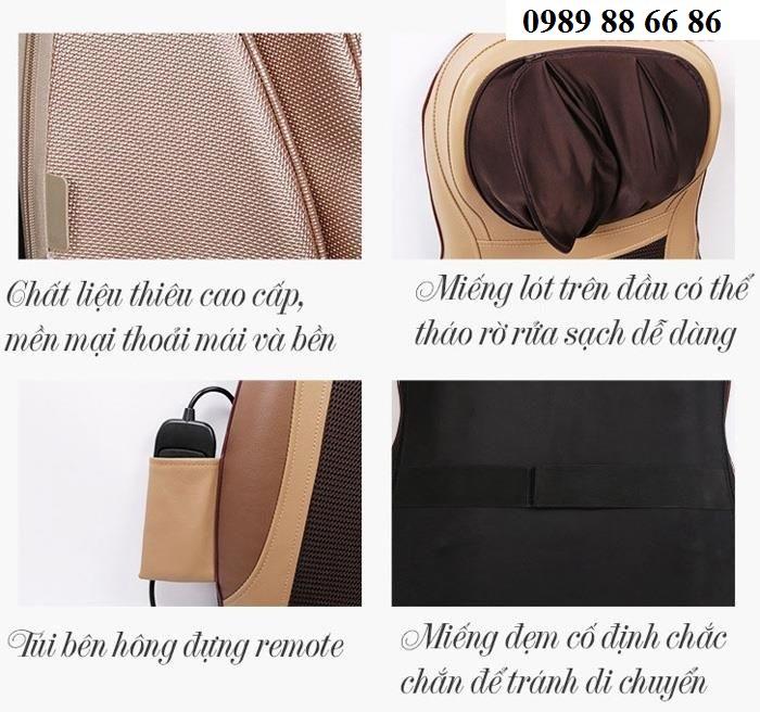 Chi tiết vải của đệm massage toanft hân 6d1
