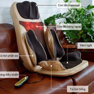Chi tiết bộ phận đệm massage toàn thân 6D1 Nhật bản