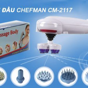 Máy massage cầm tay 7 đầu Chefman CM-2117 Mỹ
