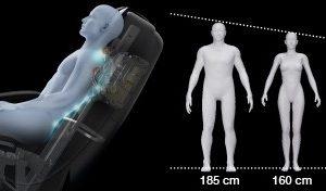 ghế massage toàn thân Panasonic EP-MA73F kéo dãn