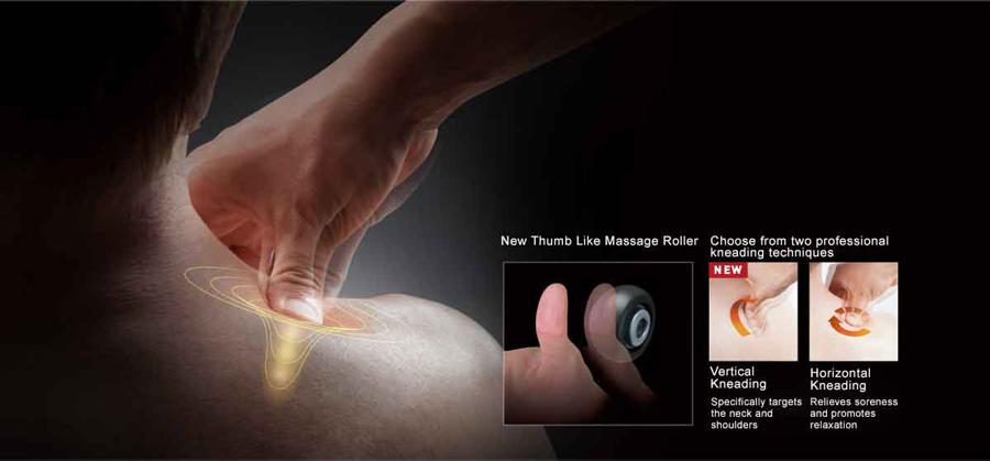ghế massage toàn thân Panasonic EP-MA73F con lăn day