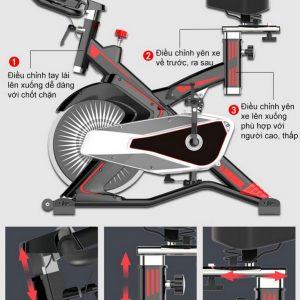 máy tập thể dục đạp xe Ayosun AYS-885X2 tại nhà