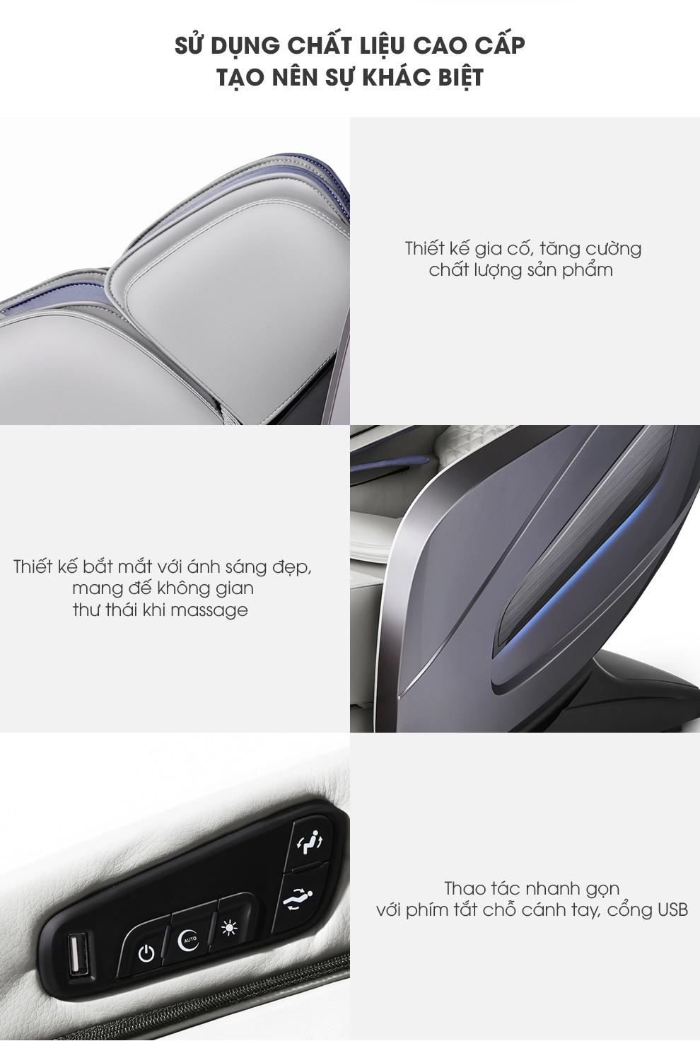 ghế mát xa toàn thân Okazaki OS-500LX từng bộ phận
