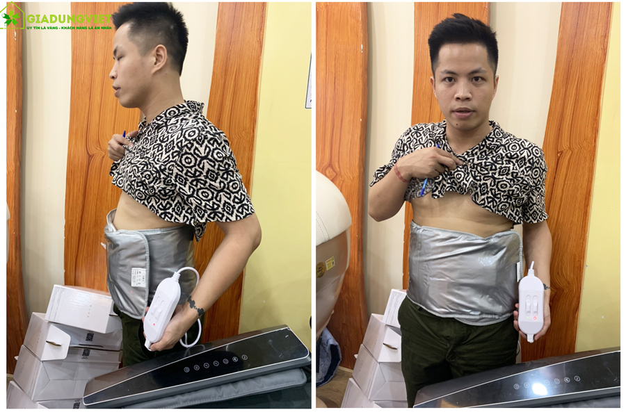 Đai massage giảm béo bụng Saporoo cho nam