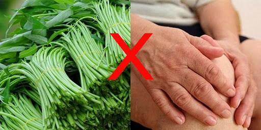 Đau xương khớp ăn rau muống có tốt không?