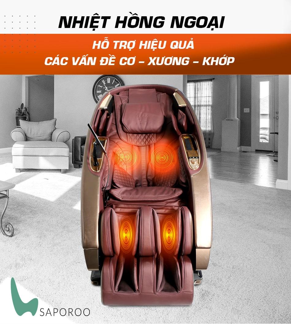 Phương pháp nhiệt nóng trong ghế massage