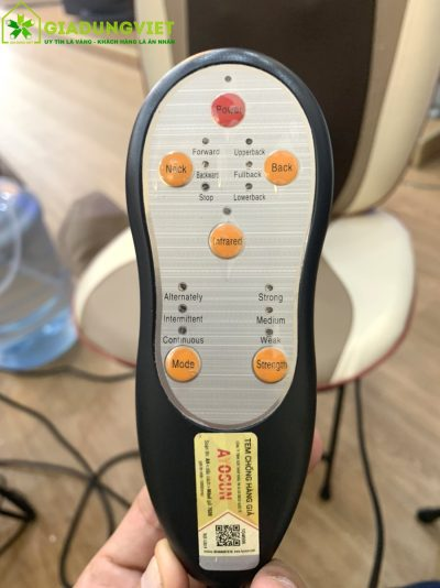 Đệm massage toàn thân Ayosun 2021 điều khiển