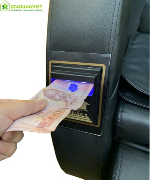 Vị trí nhét tiền vào máy