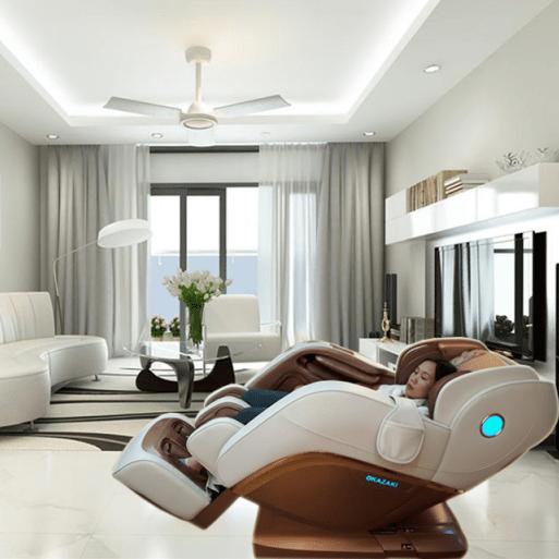 Đặt ghế massage trong nhà tại phòng khách