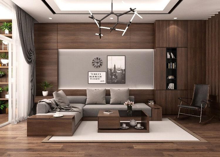 Đồ nội thất đẹp phòng khách gỗ công nghiệp