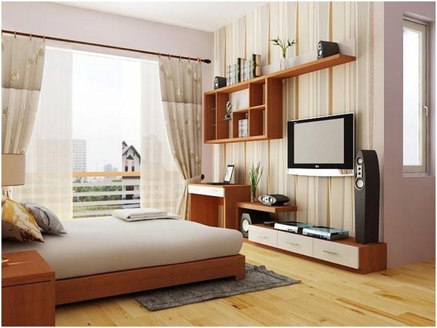Trang trí nội thất phòng ngủ 16m2